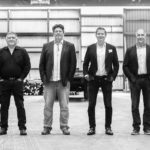 From left to right: Paul McCurry, Steve Beaton, Kyle Smith, Craig Smith, Craig Kotun, Glenise Harvey - Shareholders of A&H Steel Vancouver